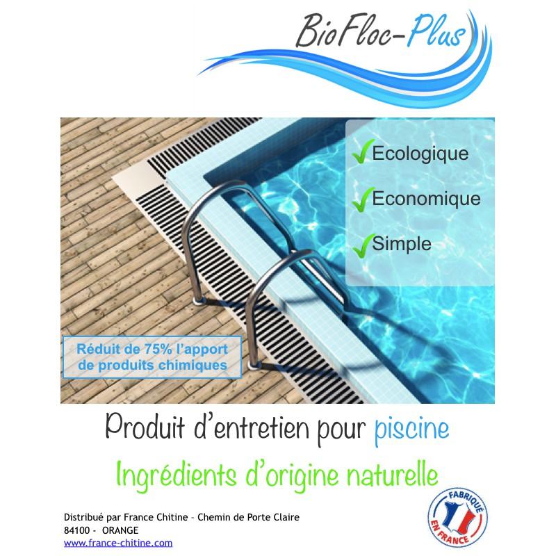 Biofloc plus produit naturel pour piscine fabriqu en france for Produit pour piscine